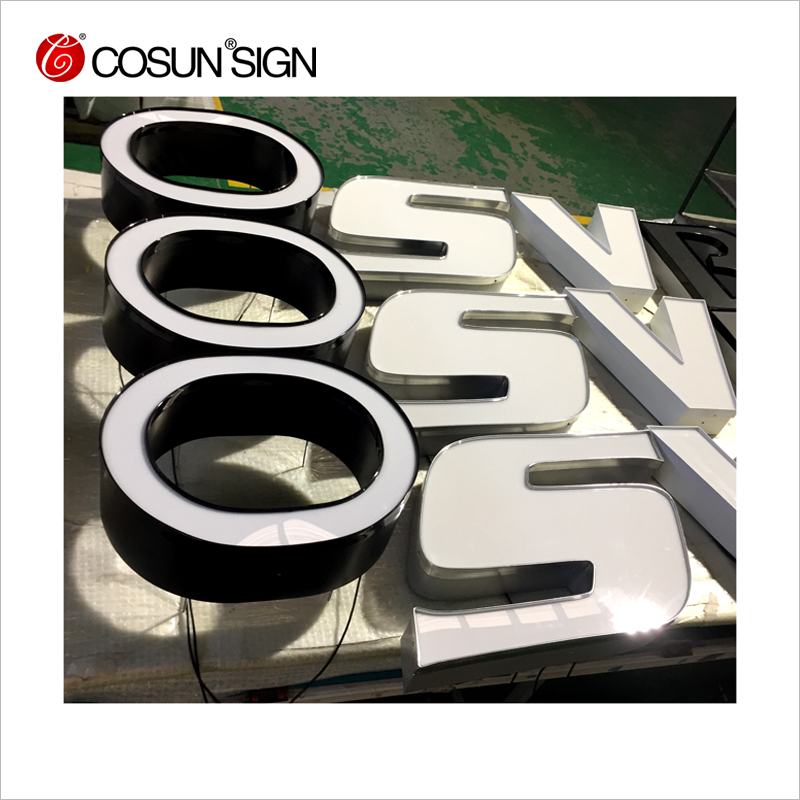 CosunSign Wholesale small metal quotation sample illuminate channel letter