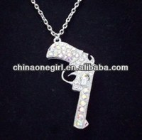 GUN PENDANT NECKLACE