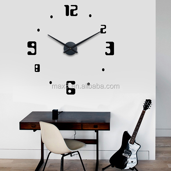 horloge numrique design amazing horloge murale personnalit calme art mode creative salon grand. Black Bedroom Furniture Sets. Home Design Ideas