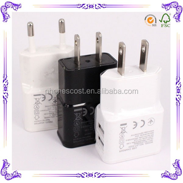 High Speed 5v 2.1A charger for samsung mobile phone wholesale