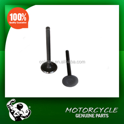 High quality motorcycle 70cc engine parts intake and exhaust engine valve