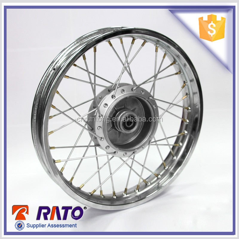 China original supplier hot sale motorcycle parts 17 inch chrome wire wheels