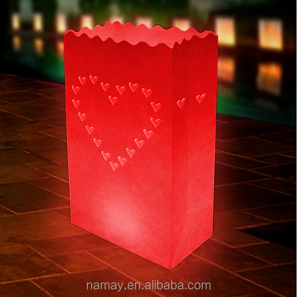 Love Heart Design Gift Home Decor Paper Wax Kraft Candle Bags