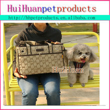 Luxury style pet carriers outdoor dog bag