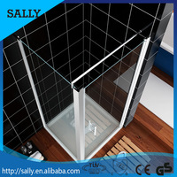 Frameless design hinge glass enclosed shower cubicles
