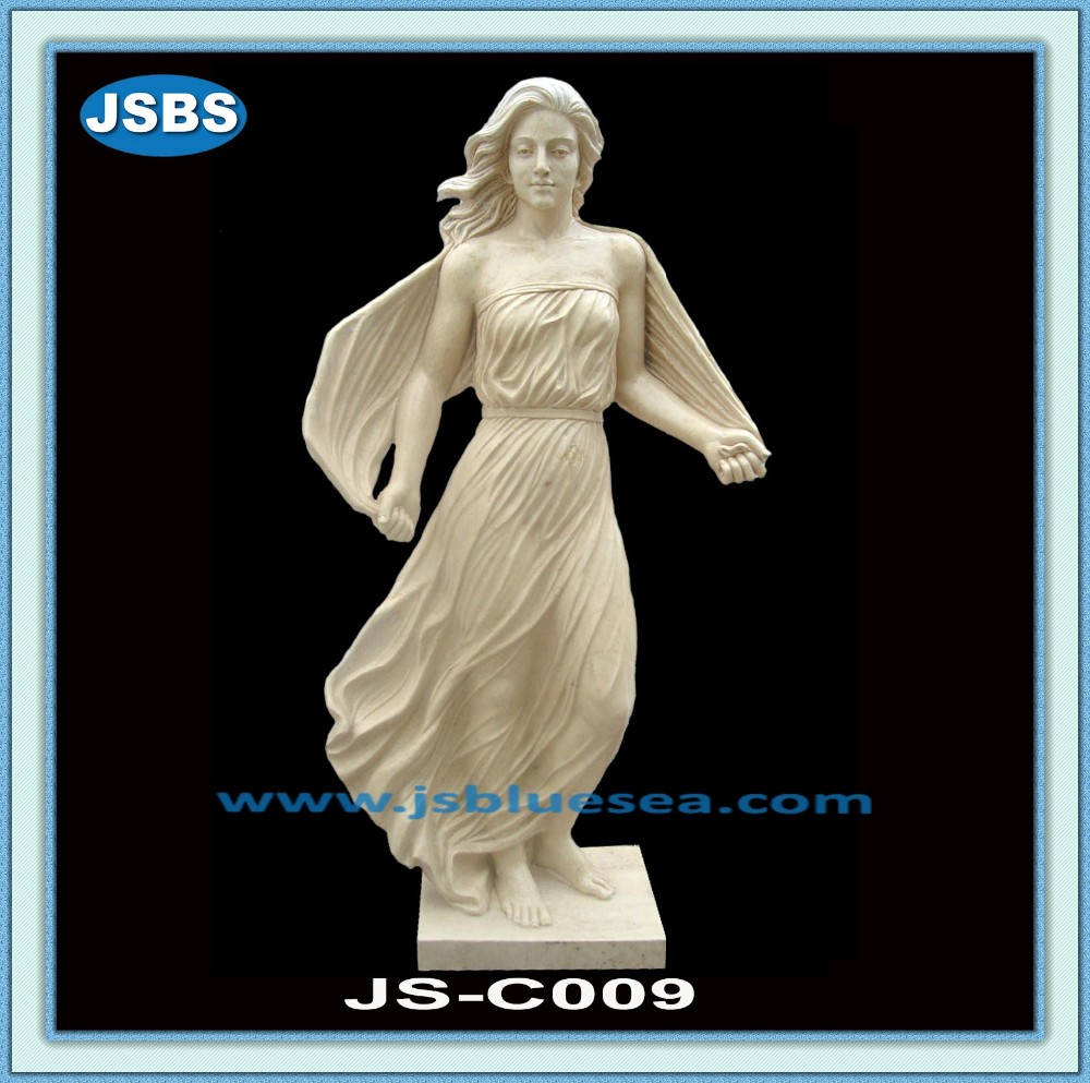 Sale Decorative Hand Carved Stone Lady Greek Garden Statues