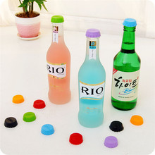 Colorful silicone wine stopper keep beer wine fresh Wine Bottle Stopper Champagne Stopper Cap Top Bar Tools