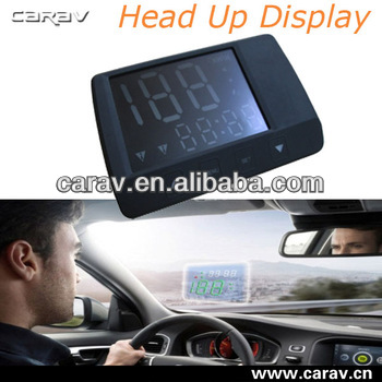 Universal LED Head Up Speed Display,Hud Head Up Display With Built in GPS module For Speeding Car