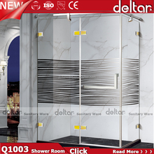 Simple modern bathroom use sliding tempered glass shower rooms