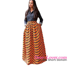 Women Skirt 2017 Latest Wholesale Cheap Maxi Deluxe African Print Skirts