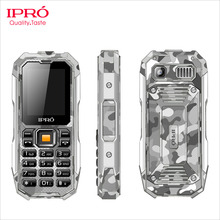 2.0inch GSM china Waterproof cell phone military big speaker dual sim flashlight rugged cell phone