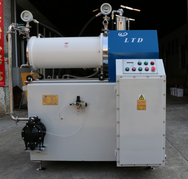 China good supplier 30L capacity ink grinding machine disc type horizontal sand mill factory