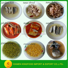 canned food list of canned vegetables and canned fish