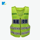 Hign Visibility LED flashing Safety Vest with Reflective material