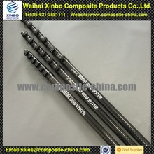 Carbon Fiber Water Fed Telescopic Pole for Window Cleaning With Horizontal Clamps