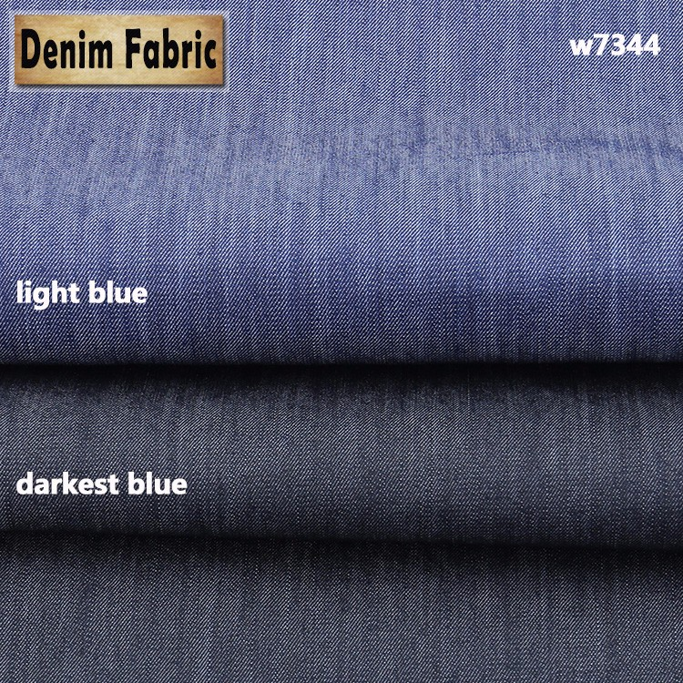 w7344 hot sale 5oz twii slub 80%cotton 20%polyester denim fabric