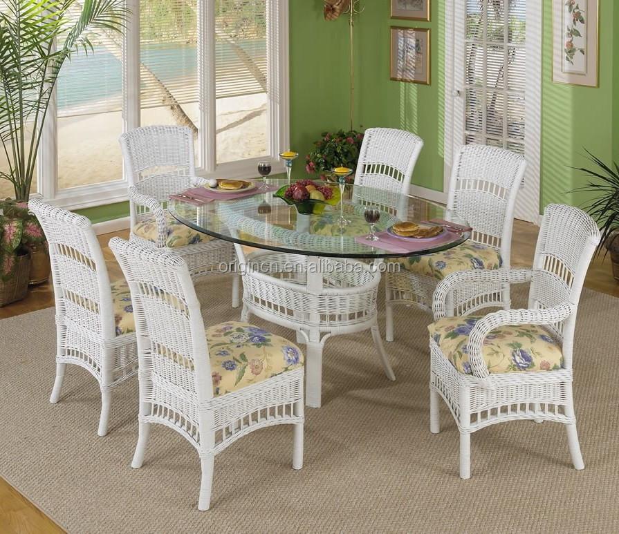 plazas estilo retro interior o al aire libre muebles de mimbre blanco silla de mimbre