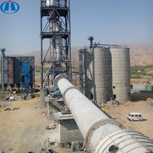 Low Consumption Bauxite Cement Making Machinery Rotary Kiln Refractory Material