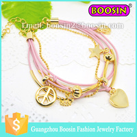Fashion Women Bracelet Design Gold Peace
