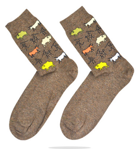 Camel Winter Cotton Animal Knitted High Quality Men's Socks