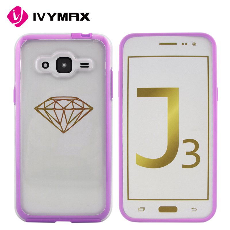 Fashion Hybrid Cell Phone Case Shell Cover Protective for Samsung Galaxy J3 (2016)