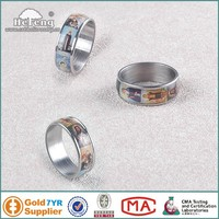 Cheap wholesale stainless finger rosary ring