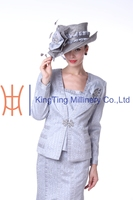 New fancy silver church ladies western party wear suits