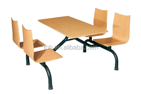 Cafeteria Dining Furniture Table And Chairs Combination (FOH-CBC08)