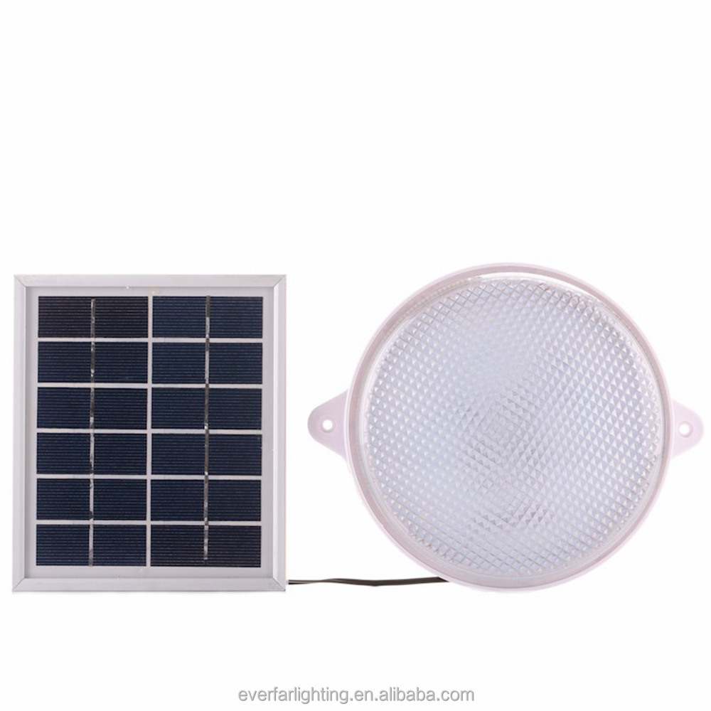 2watt solar panel powered LED panel lamp ceiling light