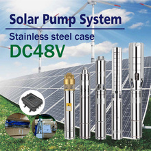 750W 100% solar powered deep well water pump submersible water pump