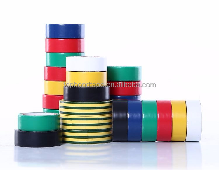 Rubber Type Adhesive Coating PVC Flame Retardant Insulation Tape