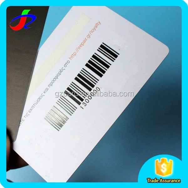 Plastic barcode customized printed loyalty gift pvc card