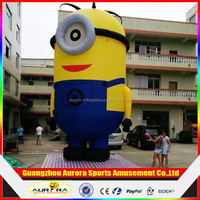 Popular cute cartoon doll inflatable small yellow people