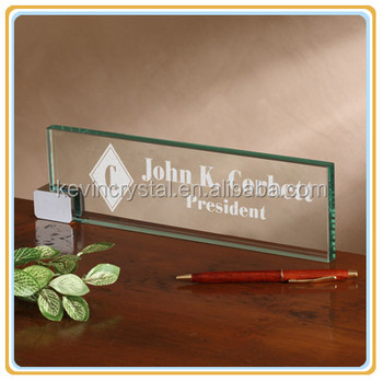 Glass name plate ideas