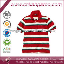 Men's 100% cotton striped short sleeve Polo T-shirt