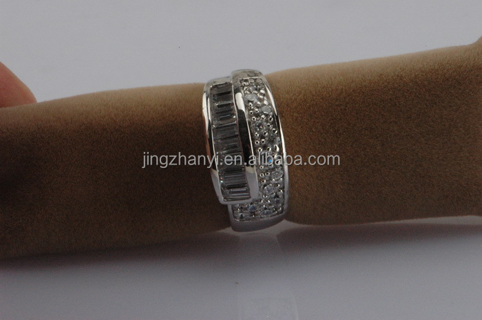 Fashion jewelry ring model 925 sterling silver rings,925 italian silver ring inlaid diamond