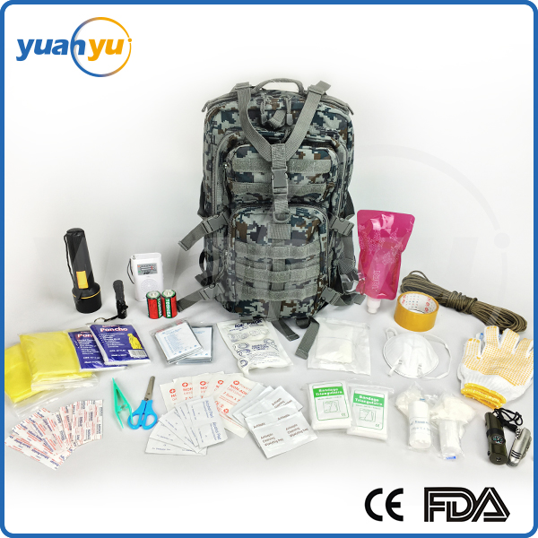2016 Best Sell For Amy 72 Hour 2 Person 3 Day Emergency supply military medical survival kit first aid tactical backpack