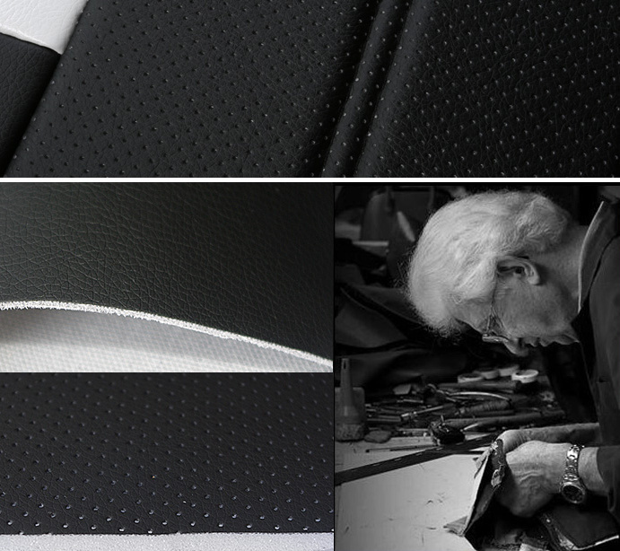 PVC leather for bus car seat fabric similar with real leather design
