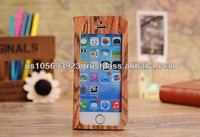 For Iphone 5C Smart Stand Wooden Design Case Cover Front View Window 4 colors