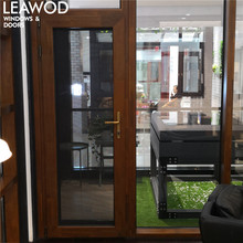 KW138 Timber Look Aluminium Doors and Windows Designs with Australia Standard