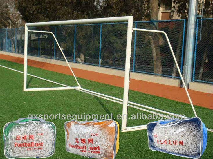 White Steel pipe 80x80mm Soccer/football Goal with net