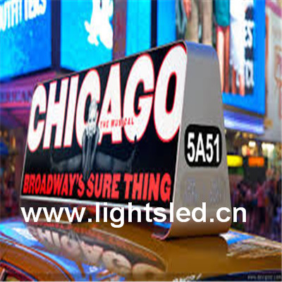 LightS inductrial products taxi roof topper led display advert