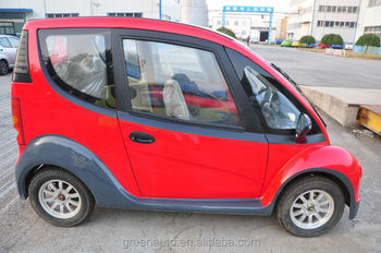 Mini electric car with solar panel