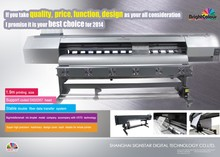 Eco solvent printer with dx5/dx7 print head of High resolution 2880dpi for flex,vinyl,mesh,wall paper
