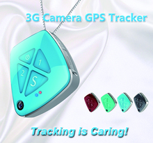 3G WCDMA Camera GPS Tracker AP07 GPS+Lbs+WiFi Location Geo-Fence Alarm, No Box