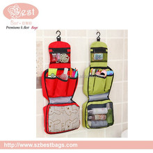 300D fashion large travel hanging toiletry bag for women