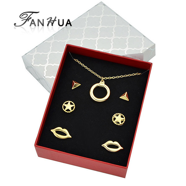 New Comimg Cheap Gold Plated Necklace Earrings Fashion Jewelry <strong>Set</strong>