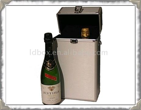 Aluminum wine carrying case