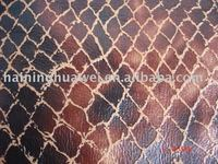 100%polyester bronzed suede artificial leather