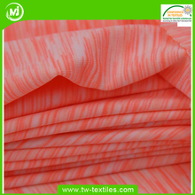 Space Dyed Single Jersey 4 Way Stretch 87% Polyester 13% Spandex Fabric in Melange Color Stripe
